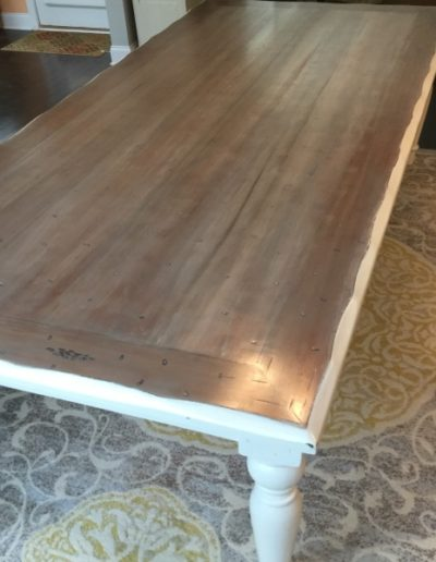 Painted Table with refinished top.